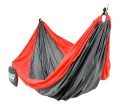 Equip 1-Person Travel Hammock Nylon Tomato Red Stormy Gray