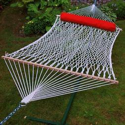 13' Cotton Rope Hammock w/ Hanging Hardware and Pillow