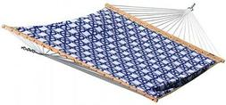 Vivere 13 ft. Quilted Fabric Reversible Double Hammock in Na