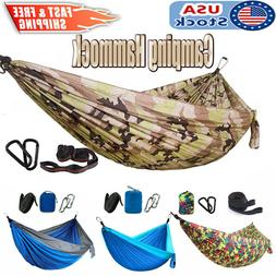 2 Person Double Camping Hammock Swing Hanging Bed Chair for