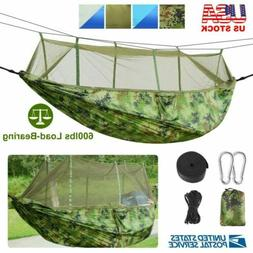 2 Person Portable Camping Hammock Mosquito Net Waterproof Wi