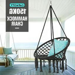 330 Pounds Cotton Rope Hanging Hammock Swing Chair Round Ind