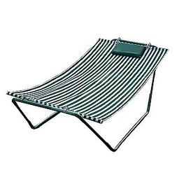 4-Point Hammock Lounge, Hunter and White Stripe
