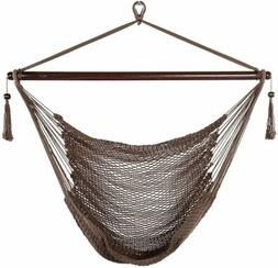 JUNELILY Super Soft Rope Hammock Swing Chair for Garden Pati