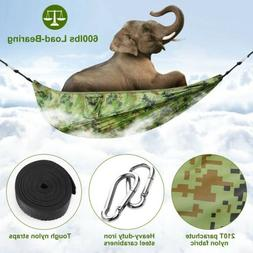 600lbs Load Single & Double Camping Hammock With Mosquito Ne