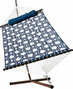 Algoma 6291WL Quilted Hammock and Stand Combination, 275 lbs