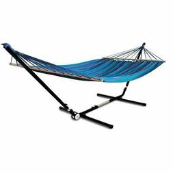 Hammaka Adjust To Fit Stand with Woven Hammock With Spreader