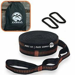 Adjustable Tree Hammock Straps with Set of Steel Carabiners