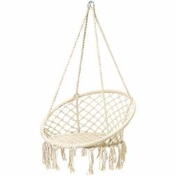 BCP Handwoven Cotton Macrame Hammock Hanging Chair Swing w/