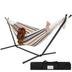 Best Choice Products Double Hammock With Space Saving Steel