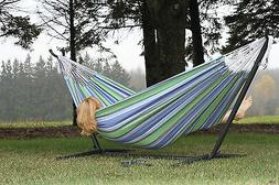 Brazilian Double Size Oasis Hammock with Heavy Duty Stand an