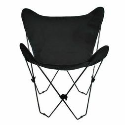 Butterfly Chair and Cover Combination w/Black Frame