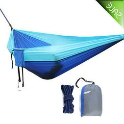 Camping Hammock Double 2 Person Portable Parachute Nylon Out