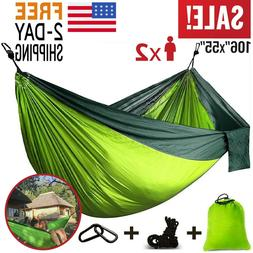 camping hammock double two 2 person parachute