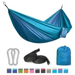 Camping Hammock Double with Tree Straps Lightweight Parachut