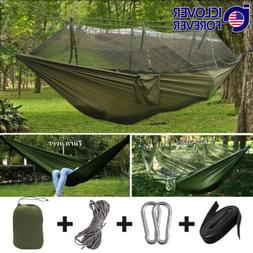 Camping Hammock Tent Mosquito Net Set 2 Person Outdoor Trave