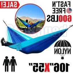 camping hammock two 2 person outdoor parachute