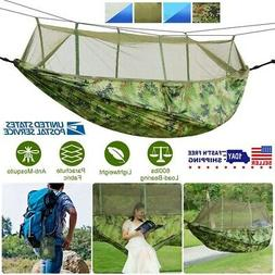 Camping Hammock Two 2 Person Parachute Tent Hiking Travel Ou