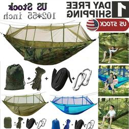 Camping Hammock with Mosquito Net Tent 2 Person Hanging Bed