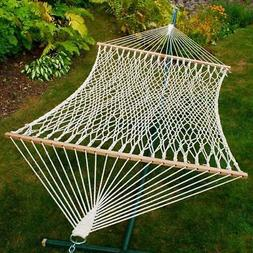 Chambers Island 2-Point Double Cotton Rope Hammock