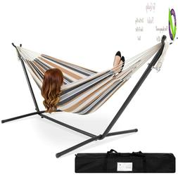 Choice Products Double Hammock With Space Saving Steel Stand