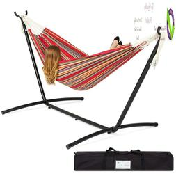 Choiceproducts Double Hammock With Space Saving Steel Stand