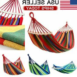 Double Hammock Hanging Bed Fabric Swing Chair Portable Campi