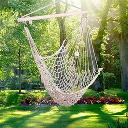 Cotton Hanging Rope Air Chair Swing Hammock Outdoor Yard Cam