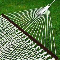 """Zeny 59"""" Cotton Rope Double Hammock with Spreader Bars"""