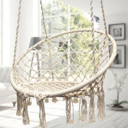 Cotton Rope Hammock Morocco Round Macrame Net Hanging Relax