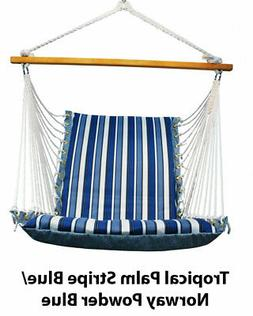 Algoma Net Cushioned Hanging Chair - Tropical Palm Stripe, N