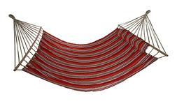 Palm Springs Double Hammock with Spreader Bar Red/Tan