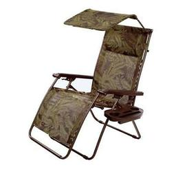 Bliss Hammocks Deluxe XL Gravity Chair Recliner With Canopy