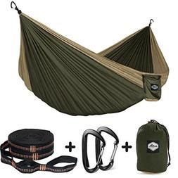 Nordmiex Double Camping Hammock With Tree Straps - Portable