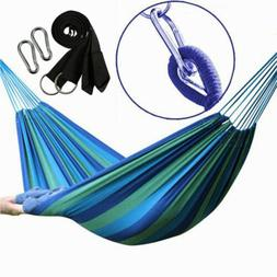 Double Hammock 2 Person Outdoor Canvas Fabric Swing Camping