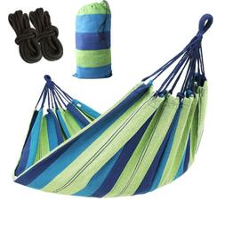 Camping Parachute Nylon Hammock W/Tree Straps Carabiners For