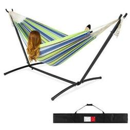 Best Choice Products Double Hammock Set w/ Accessories - Blu