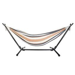 Double Hammock Space Saving w/Steel Stand  Portable Carrying