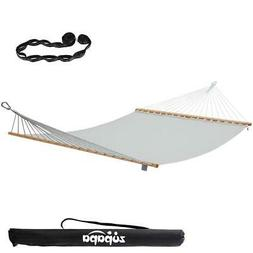 Double Hammock Swing With Spreader Bar for Outdoor Patio 2 p
