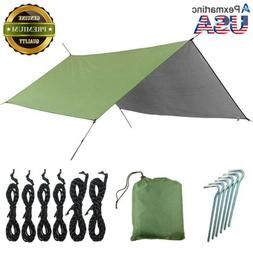 Double Hammock Tent Camping/Backpacking Rainfly Tarp Army Gr