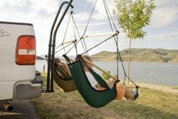 Double Hammock Trailer Hitch Steel Hanging Chair Stand Porta