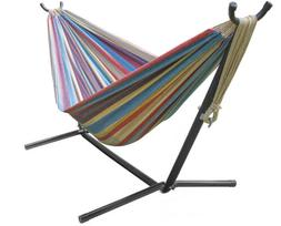 Sorbus Double Hammock with Steel Stand Two Person Adjustable