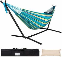 Lazy Daze Double Hammock with Space Saving Steel Stand Carry