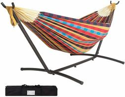 Lazy Daze Double Hammock with Space Saving Steel Stand 450lb