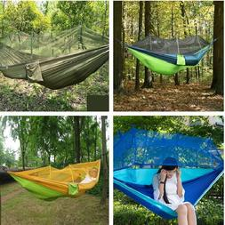Outdoor Camping Hanging Hammock Tent Mosquito Net Large Capa