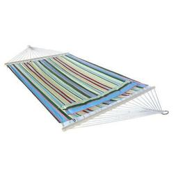 Foldable Hammock Quilted Hang Fabric With Pillow Double Size