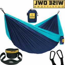 Hammock Camping Double & Single with Tree Straps, Sleeping,