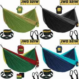 Wise Owl Outfitters Hammock Camping Double Single with Tree