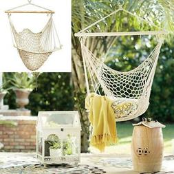 Hammock Chair Swing Hanging Rope Seat Net Chair Tree Outdoor