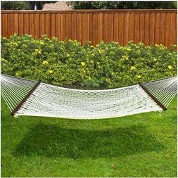 """Best Choice Products Hammock 59"""" Cotton Double Wide Solid Wo"""